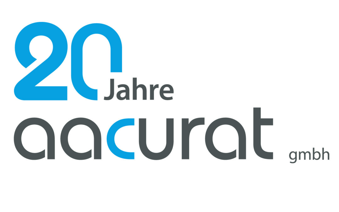 20 Jahre Aacurat Jubiläum Logo